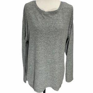 Tahari Grey Long Sleeved T-Shirt Size M